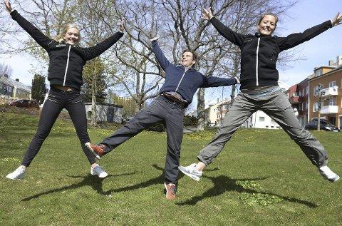 SPREKE: Andrea Betten (fra venstre), Sverre S. Eckhoff og Ida Elise Hansen håper mange blir med på verdens aktivitetsdag.