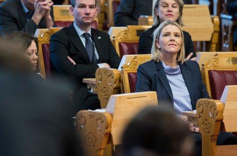 Statsråd Sylvi Listhaug under muntlig spørretime, torsdag. Foto: Berit Roald / NTB scanpix