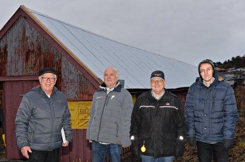 Reperbanen i Brunsvika har fått ny eier. Robert Gilroy Johannessen (fra venstre), Ove Bjerkan, Johan B. Siira og Heljar Siira Farnes.