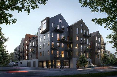 HAVEGATEN: Leilighetene i havegaten har forventet byggestart i februar, men ennå er kun 29 av 55 leiligheter solgt. (Sveip til venstre for flere bilder)