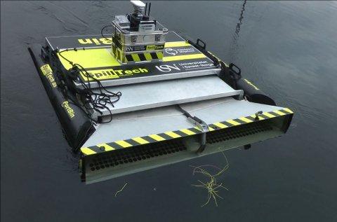 RYDDER SØPPEL: Roboten PortBin er utviklet i samarbeid med elever ved Produktutvikling-linja på Universitetet i SørØst Norge