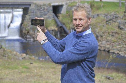 Museumsdirektør Knut Aall skriver i årsrapporten at museet ble hardt rammet, da man som resten av samfunnet måtte stenge helt ned 12. mars i fjor.Dette bildet er tatt i forbinderlse med lanseringen av en mobilApp. Arkivfoto