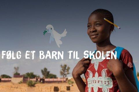 TV-aksjonen 2017 går til Unicefs arbeid for å gi utdanning til barn rammet av krig og konflikt.