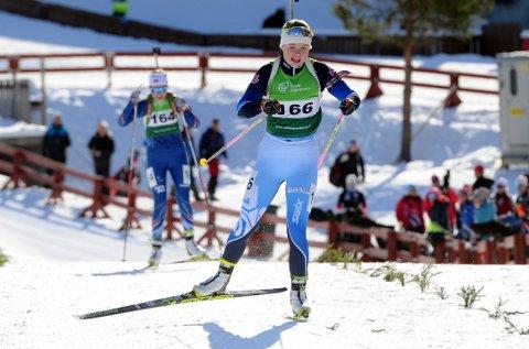 Medalje: Eivor Melbybråten tok bronse på fellesstart under junior-NM i skiskyting i Orkdal fredag.