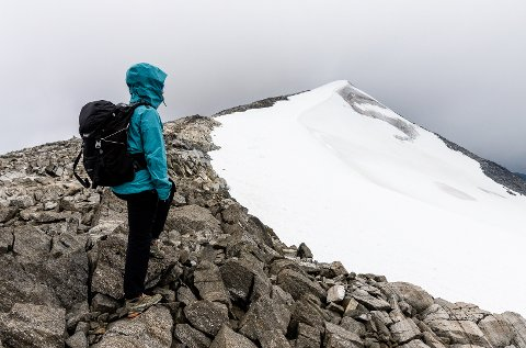 Toppen av fjelltoppen Glittertind i Jotunheimen.