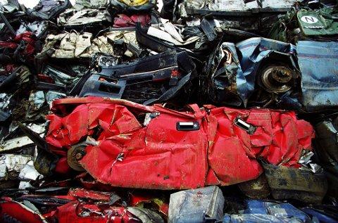 Tredje mest: Ikke siden 2012 har færre biler blitt vraket, men innlendingene bidrar til å dra opp snittet som fylket der det ble vraket tredje mest biler i fjor.