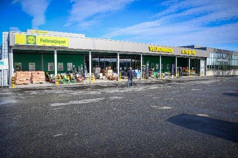 STORSTREIK: Fagforbundet Negotia har att ut alle sine medlemmer hos Felleskjøpet Agri i streik. På bildet, utsalget på Holstad.