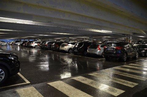 Bildet er tatt i parkeringshuset ved Ski storsenter ved en tidligere anledning.