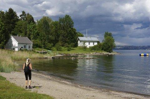 FRARÅDER BADING: Ved Kirkevika frarådes det å bade. Sør for denne stranden har kommuneoverlegen lagt ned et badeforbud.
