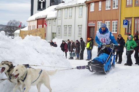 FRANSKMANN I HODALEN: Jean Philippe Pontier er bosatt i Hodalen i Tolga. Bildet er fra starten av årets Femundløp.