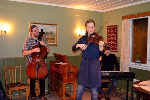 Stayer: Sivert Skavlan (t.v.), Ingvild Blæsterdalen og Einar Olav Larsen utgjør folkemusikktrioen som nå er ute med «Stayer».