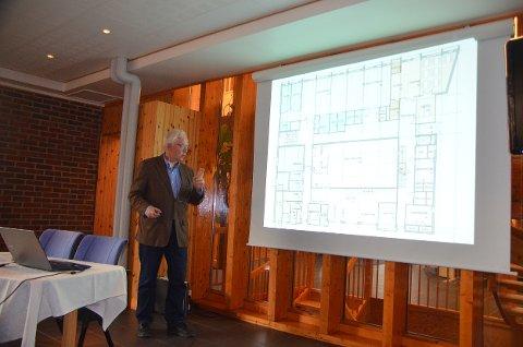Direktør for Norsk Helsearkiv, Tom Kolvig, fortalte ivrig om planene for helsearkivet på Tynset tirsdag kveld.