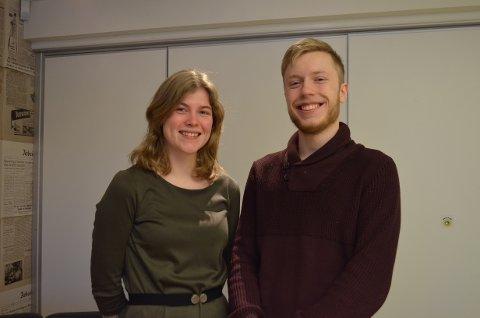 Paula Brouwer og Sebastian Andersen er to av årets UKM-ere som arrangerer lokalmønstringa. De ønsker å fokusere på trivsel og sosialt samvær blant deltakerne.