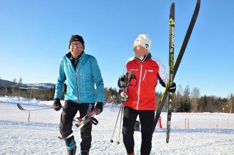 Gunnar Tronsmoen (88) og Arve Tellefsen (81) foran Birken 2018.
