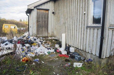 Flommer over av søppel: Rottene trives bra i Gamle Mossevei 77. Foto : Åsmuns løvdal