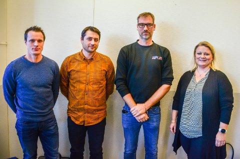 TRENGER FLERE UNGE: (f.v) Rolf Hammersborg (Aker Solutions), Martin Karlstad (KSB), Jens Mellquist (Askim Mekaniske Verksted) og Hanne Skogli (Folla Tech) er enige om at industrisektoren har et stort behov for nye fagarbeidere.