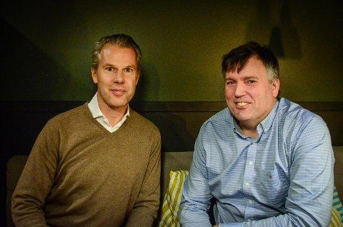 MÅ VURDERE SITUASJONEN: Falko Müller-Tyl og Harald Schytz står bak planene for Solbakke 3 -5. De er skuffet over politikernes vedtak og må vurdere hva de vil gjøre videre.
