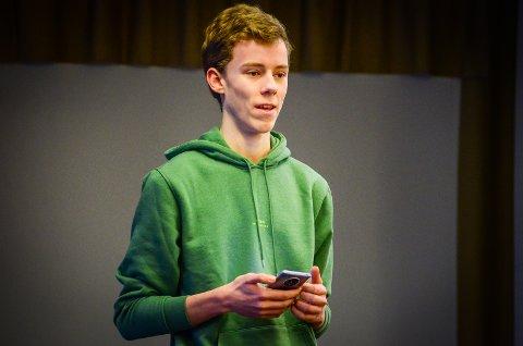 VIL HA KLIMAENGASJEMENT: Daniel Martinsen er elev på Ås ungomsskole og leder Ås ungdomssråd.