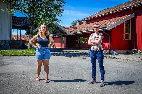 FRYKTER FOR KROER SKOLE SIN FREMTID: SV-politikerne Tuva Todnem Lund og Kjersti Bakkebø Fjellstad.