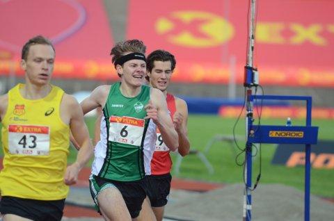 GODT LØP: Ole Jakob Solbu ble nummer fem i NM-debut. Løpet ble vunnet av Jacob Ingebrigtsen.