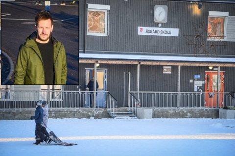 RIKTIG VALG: Åsgård-rektor Håvard Fosstuen mener det er riktig å fortsette med digital hjemmeundervisning til og med 14. april på skolene Åsgård, Rustad og Ås ungdomsskole.