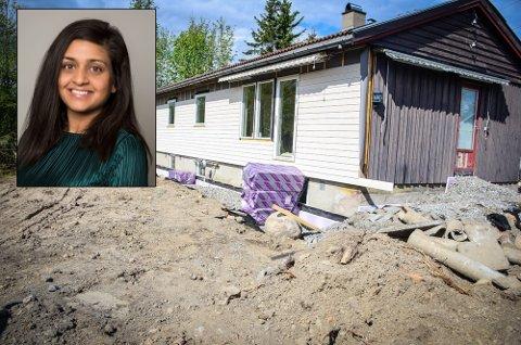 KRITISERER KOMMUNEN: Zara Berg (H) mener Ås kommune ikke bør stille seg positiv til søknaden om dispensasjon slik at et bolighus i Ås kan omgjøres til hybelhus. Montasje: Åsmund Løvdal Austenå