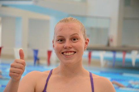 GULL! Marie Hellberg Munthe imponerte stort med solid pers og klart NM-gull i juniorklassen på 200 butterfly.