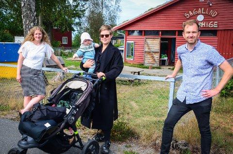 ØNSKER PRISREDUKSJON: På bildet: Stortingskandidat for Ap Tuva Moflag (venstre) og gruppeleder i Ås Edvin Søvik (høyre) og småbarnsmor Ragnhild Wilberg (midten).