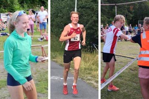 VANT FERIESPRETTEN: Fra venstre: Ane Uglem Mobakken, Sten Magnus Trovåg Wedum og Sondre Strande Omland. I tillegg vant Nora Andersen sin klasse.