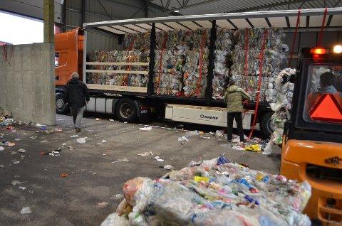 TIL TYSKLAND: Plasten fra IRS Miljø på Erikstemmen går i hovedsak til anlegg i Nord-Tyskland.