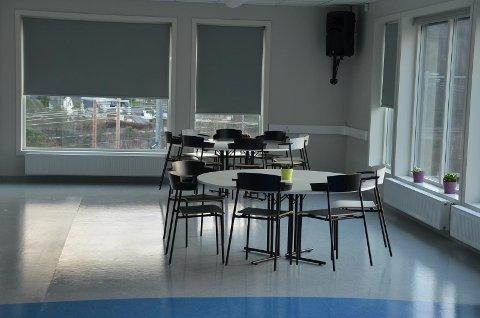NATURLIG STED: Den nye store kantinen på ungdomsskolen i Flekkefjord kan trolig være et naturlig sted for den type nærmiljøsenter som  kommunen ser for seg.