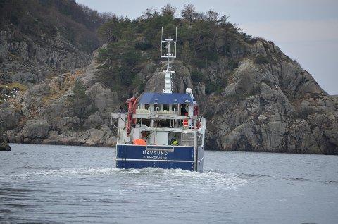 PÅ FISKETUR: «Havsund»-gjengen var ikke helt fornøyde med lofotifisket.