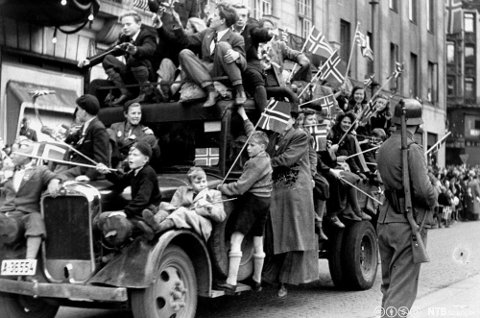 GLEDE: Fredagsdagene i Oslo i 1945.
