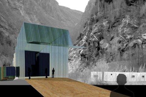 SKISSE: Slik ser ei foreløpig skisse ut for plassering av eit nytt Bjørn West-museum. Foto: Skisse frå Museum Vest