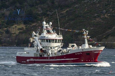 MS Støttfjord: På vei til Bodø og dåp her lørdag 2. mars. Foto: John Kraakenes