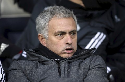 Manchester United manager Jose Mourinho prior to the English Premier League soccer match against West Bromwich Albion at The Hawthorns, West Bromwich, England, Sunday Dec. 17, 2017. (Nick Potts/PA via AP)