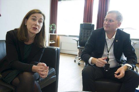 «Lekkasje»: I bybudsjettet som legges frem i dag lover helsebyråd Vigdis Gåskjenn og byrådsleder Harald Schelderup 90 nye heldøgns omsorgsplasser. FOTO: MAGNE TURØY