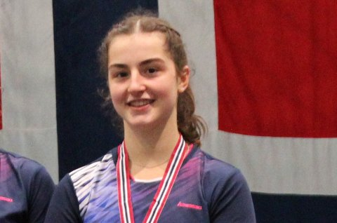 Sofia Louis Macsali (17) fra Laksevåg og Bergen Badmintonklubb gjorde et strålende badminton-NM.