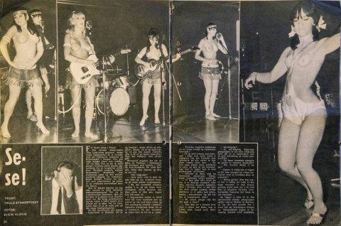 I august 1968 ble BA-reportasjen fra Stjernesalen brettet                                                                ut i ukebladet Aktuell. Ingen tvil om at musikken var toppløs.