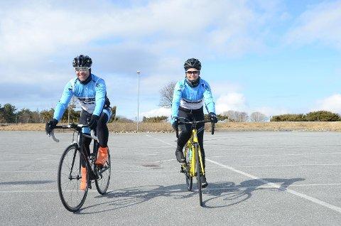 Arild Finnesand og Kirsten Nærbø er medlem i Rennesøy Sykleklubb og er gladelig med på spinningaksjonen lørdag 7. april.