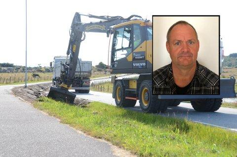 Høyt fartsnivå: Pål Thornes er prosjektleder for gang- og sykkelstien langs Mosterøyveien.