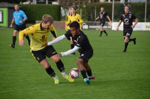 Har ambisjoner: Jonas Antonio Halsne (18) ønsker å spille på høyere nivå enn fjerde divisjon og kan være på vekk fra Randaberg.