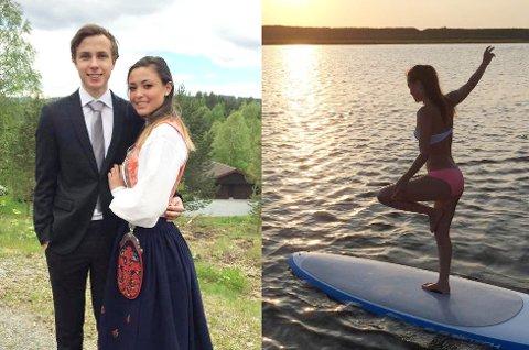 Dani Tejada, som går på vg2 på Rosthaug videregående skole, skriver om kulturforskjellene mellom New Jersey i USA og Sigdal i Norge. På bunadbildet er hun sammen med kjæresten Kristoffer Johan Hunstad.