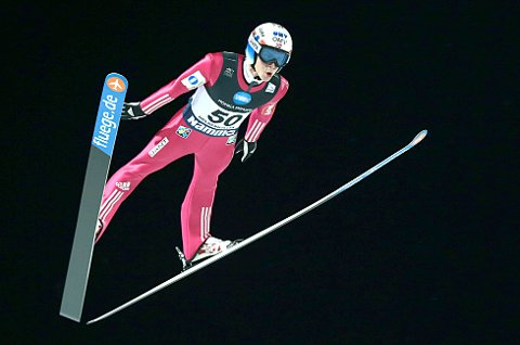 KLAR FOR REKORD: Anders Fannemel drømmer om ny verdensrekord i Vikersund denne helgen. Foto: Vidar Ruud/NTB Scanpix