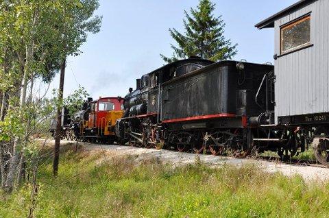 Krøderbanens lokomotiv 236 måtte få hjelp av både et servicelokomotiv og det mindre 225 for å komme seg til Sysle stasjon, etter stansen en søndag for to år siden.