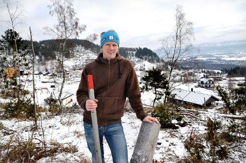 BOLLIGBYGGING: Ola Kvale og det nystiftede selskapet Noresund utvikling AS, har planer om å bygge boliger på Kjørkehaugen på Noresund.