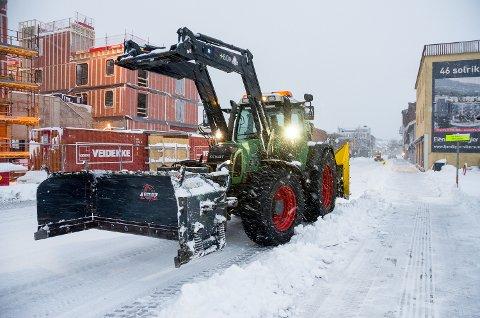 SNØVÆR: Fra mandag ettermiddag er det ventet snø.