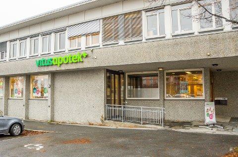 TIL FJORDBYEN: Vitusapotek Vikersund har planer om å flytte inn i Fjordbyen i stedet for dagens lokaler i Vektergården.