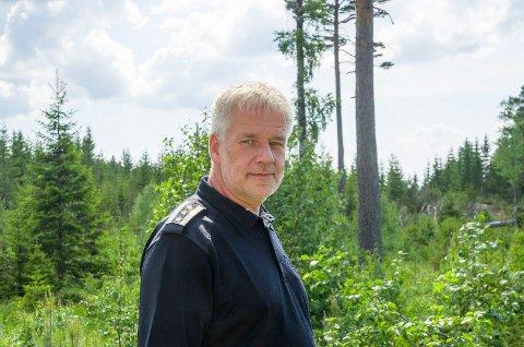 Brannsjef Per Einar Elvigen i Modum brannvesen.
