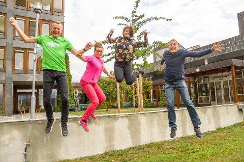 NY INSPIRASJON: Terje Ingvoldstad, Anne Kat. Håskjold, Malin Maruset og Per Buxrud håper inspirasjonskvelden 20. september vil bli en suksess.